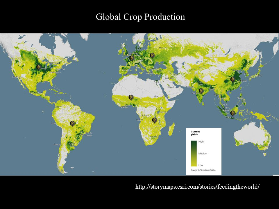 http://storymaps.esri.com/stories/feedingtheworld/ Global Crop Production