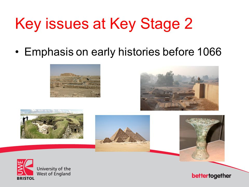 Key issues at Key Stage 2 Emphasis on early histories before 1066