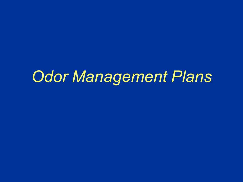 Odor Management Plans