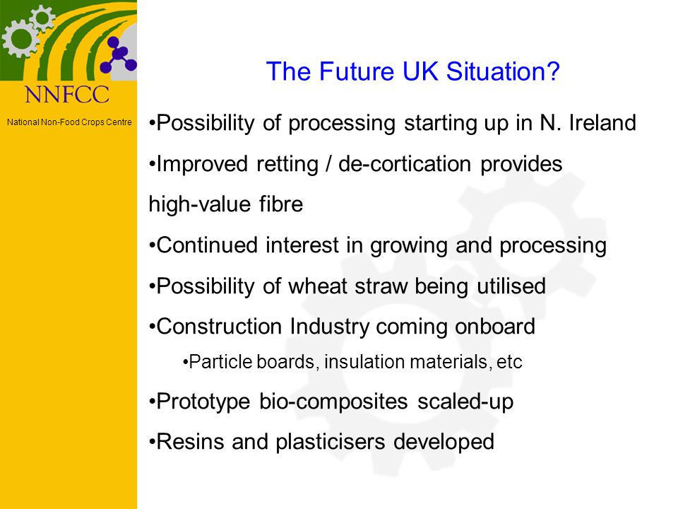 National Non-Food Crops Centre The Future UK Situation.