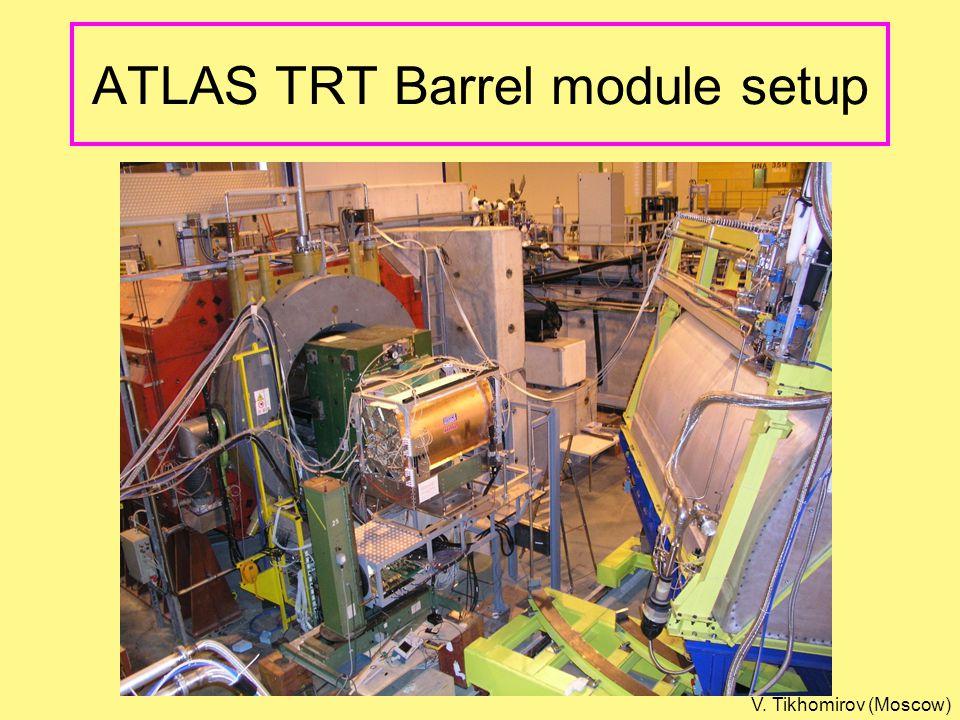 ATLAS TRT Barrel module setup V. Tikhomirov (Moscow)