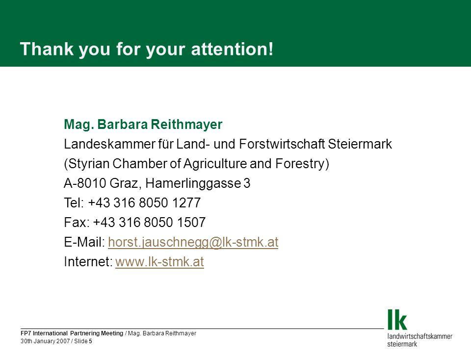 FP7 International Partnering Meeting / Mag.
