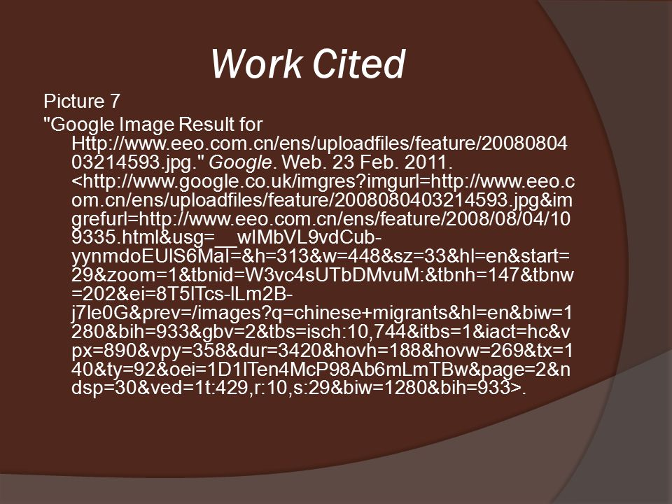 Work Cited Picture 6 Google Image Result for Http://photos.upi.com/slideshow/lbox/e35851c5e230c42d 233270f8961861ea/Unemployment-Migrants- China.jpg. Google.