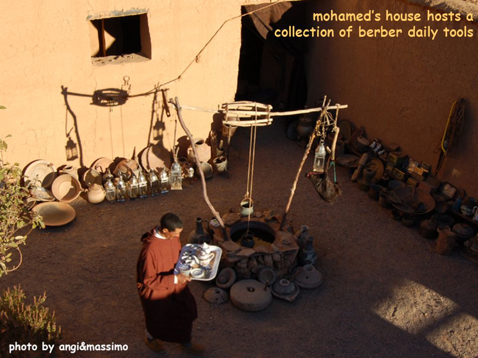 mohamed's house hosts a collection of berber daily tools