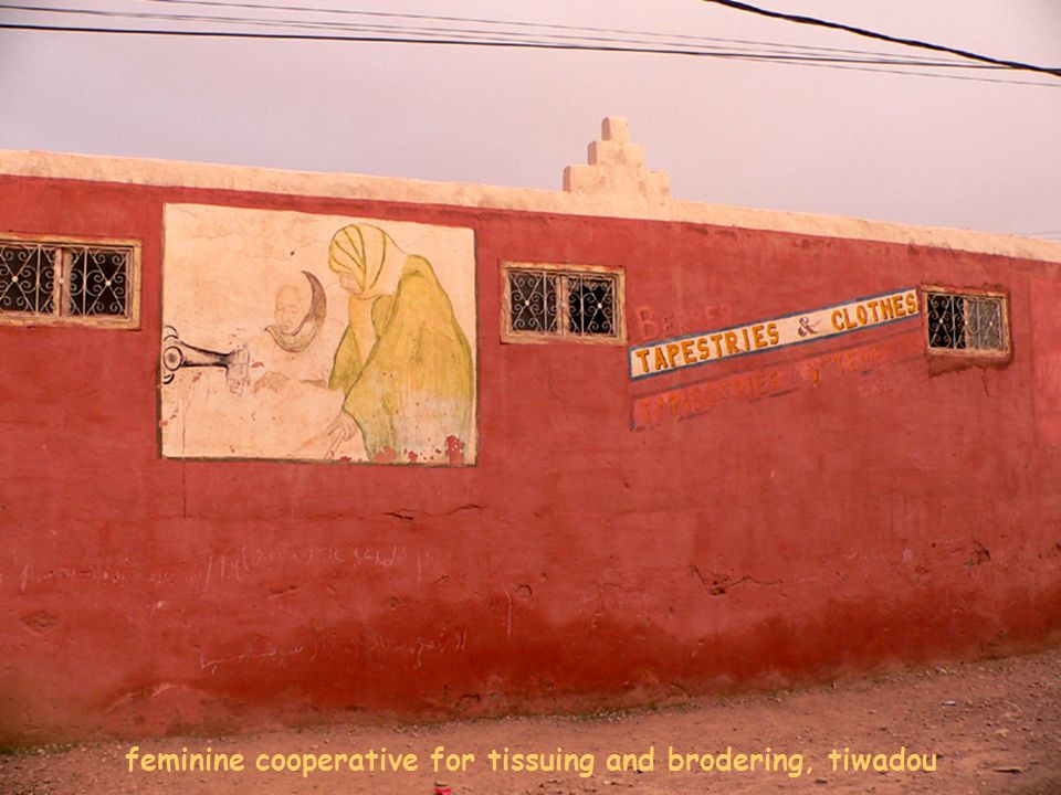 feminine cooperative for tissuing and brodering, tiwadou