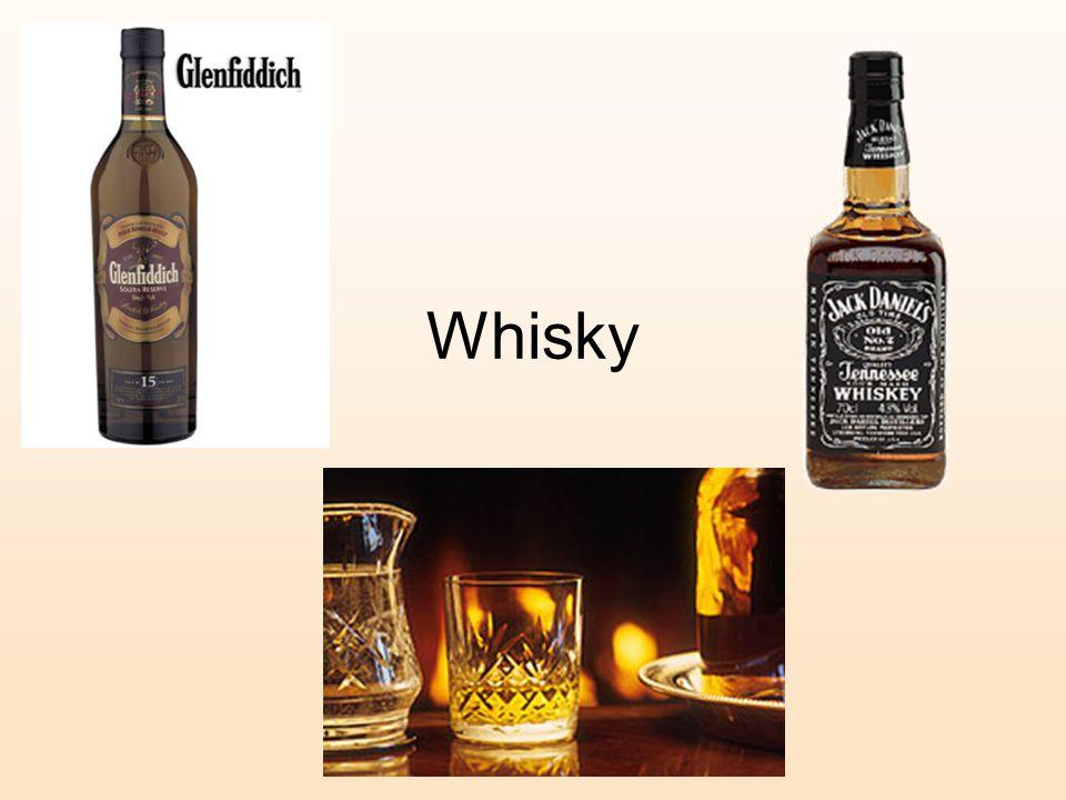Rum – White/ Golden/ Dark Made from sugar cane -originated from the West Indies.