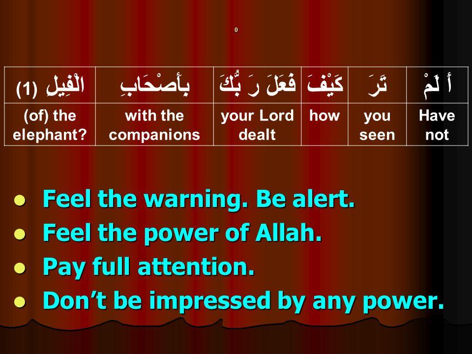 0 Feel the warning. Be alert. Feel the warning. Be alert.