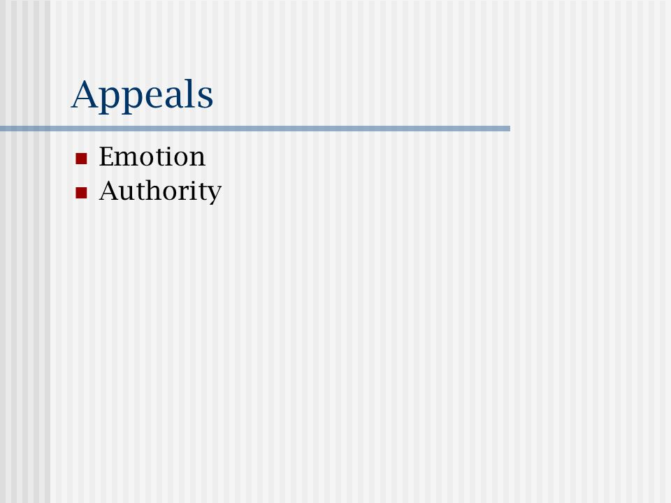 Appeals Emotion Authority