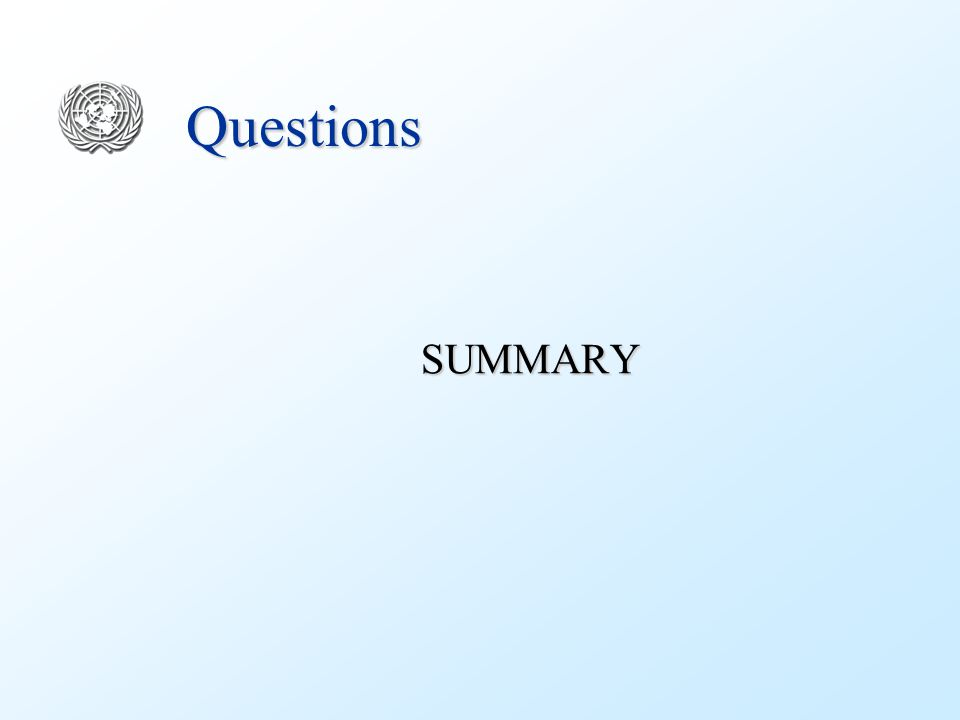 Questions SUMMARY