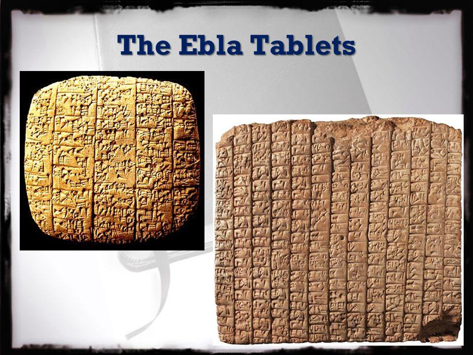 The Ebla Tablets