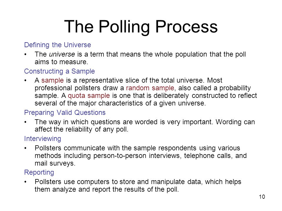 11 Evaluating Polls and Their Limit on Public Opinion Evaluating Polls On balance, most national and regional polls are fairly reliable.