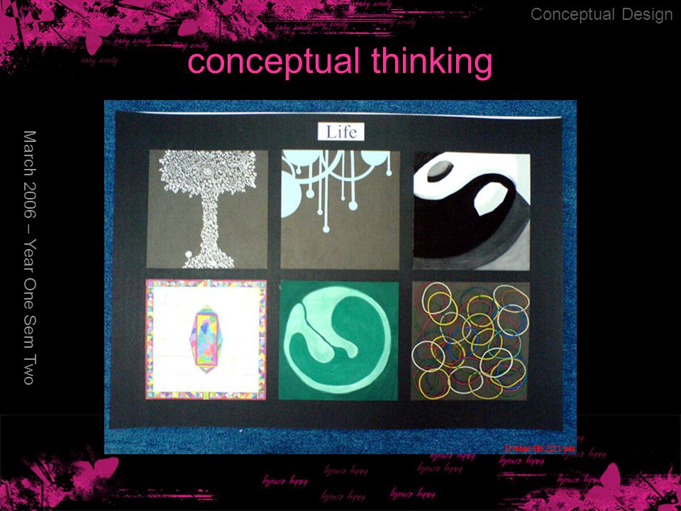 conceptual thinking March 2006 – Year One Sem Two Conceptual Design