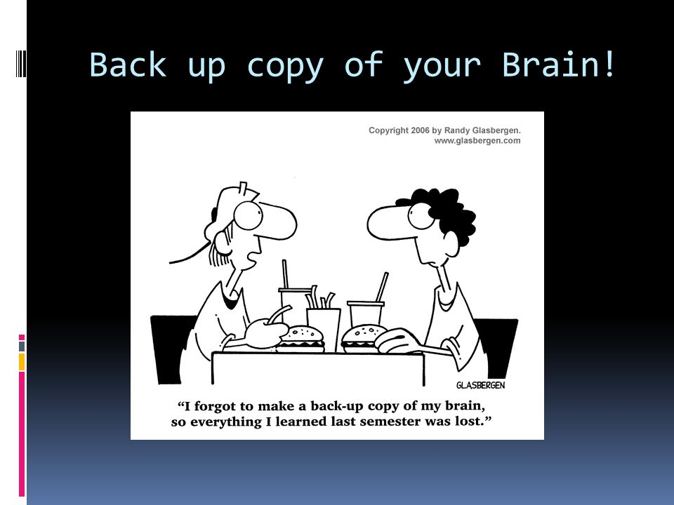 Back up copy of your Brain!