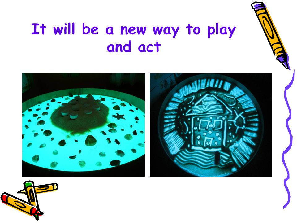 It will be a new way to play and act