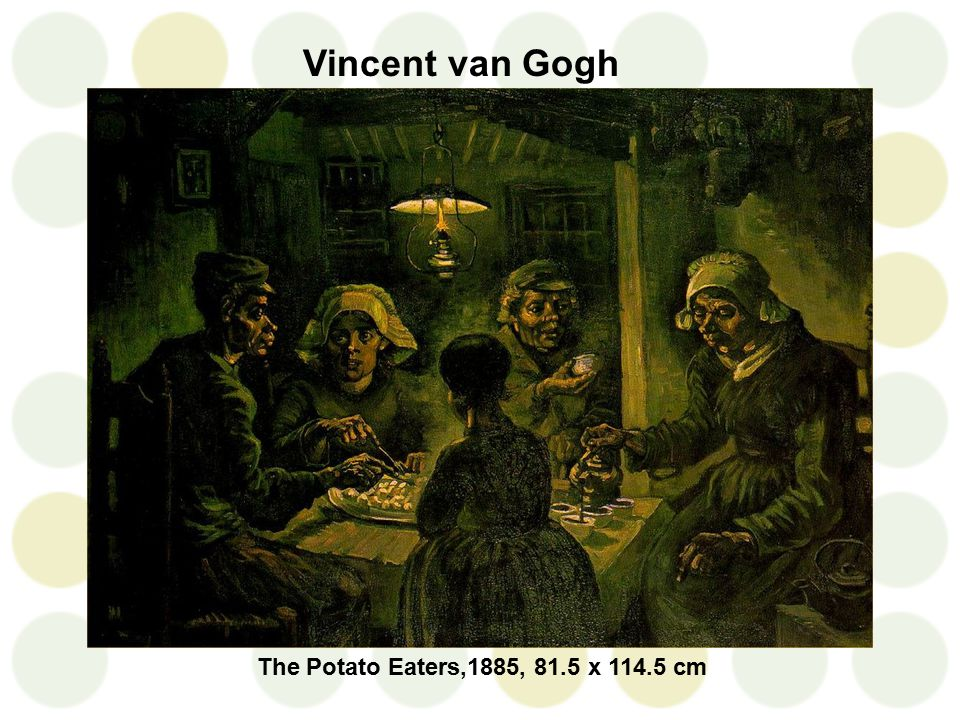Vincent van Gogh The Potato Eaters,1885, 81.5 x 114.5 cm