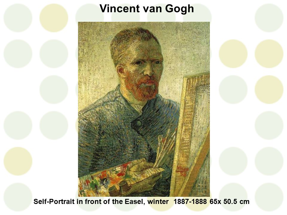Vincent van Gogh Self-Portrait in front of the Easel, winter1887-1888 65 x 50.5 cm