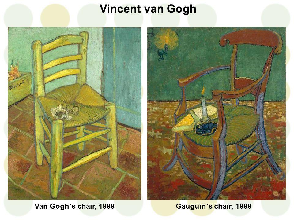 Vincent van Gogh Gauguin`s chair, 1888Van Gogh`s chair, 1888