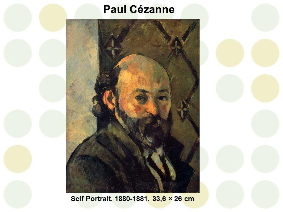 Paul Cézanne Self Portrait, 1880-1881. 33,6 × 26 cm