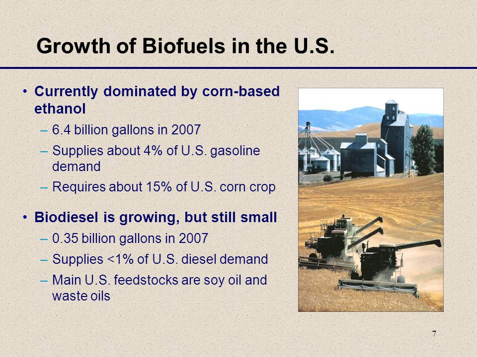 7 Growth of Biofuels in the U.S.