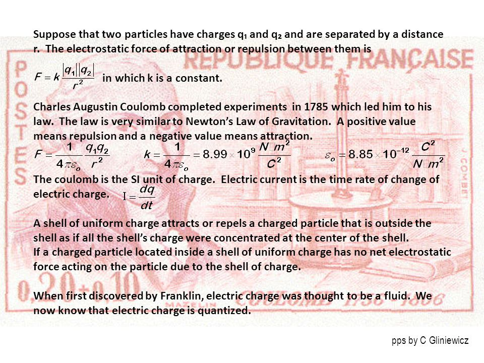 Suppose that two particles have charges q₁ and q₂ and are separated by a distance r.