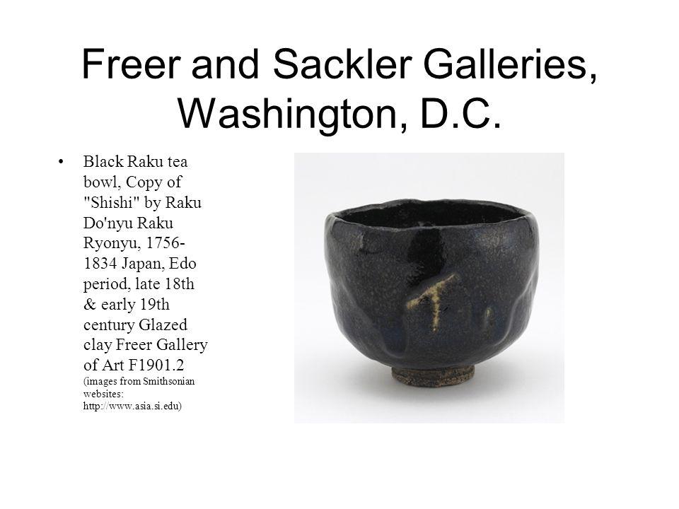 Freer and Sackler Galleries, Washington, D.C. Black Raku tea bowl, Copy of