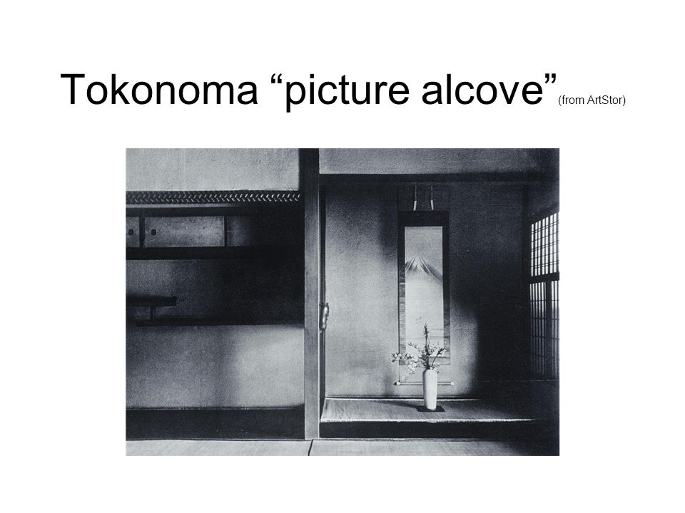 Tokonoma picture alcove (from ArtStor)