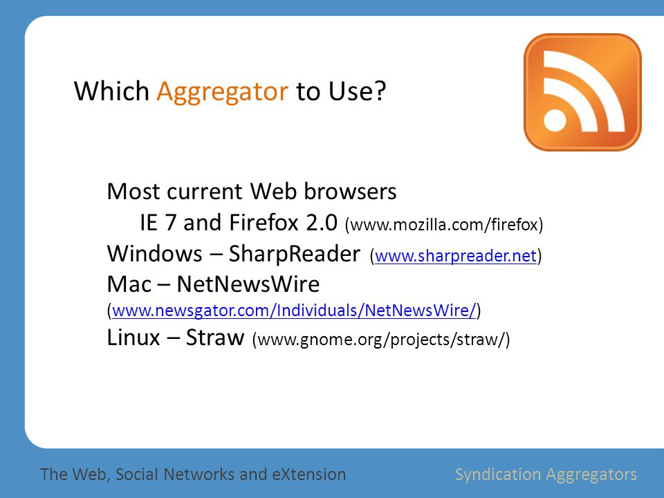 Which Aggregator to Use.