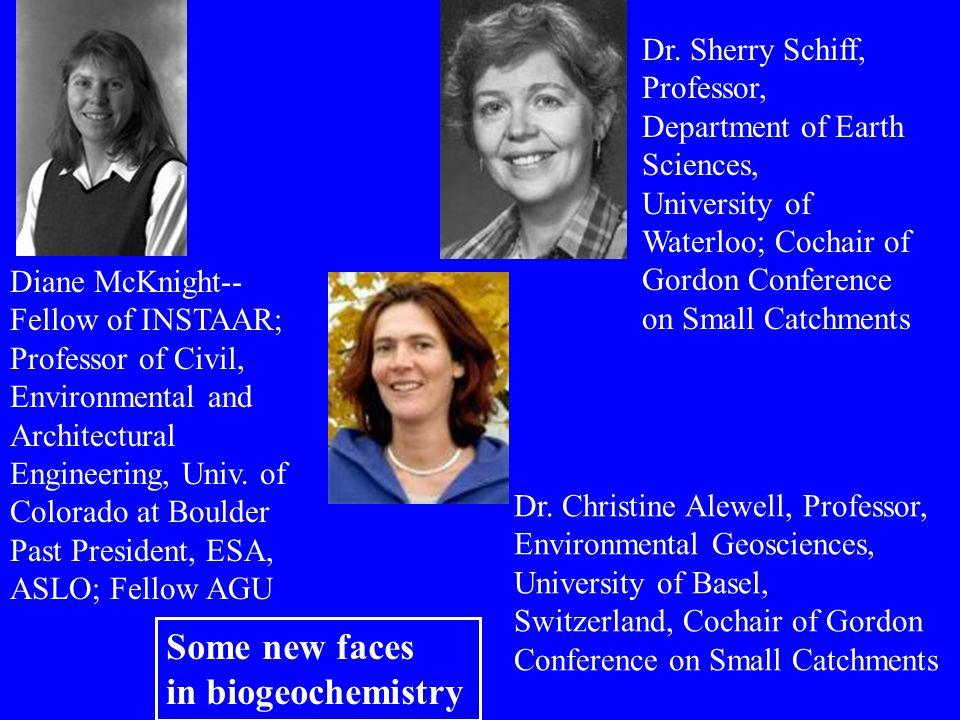 Diane McKnight-- Fellow of INSTAAR; Professor of Civil, Environmental and Architectural Engineering, Univ. of Colorado at Boulder Past President, ESA,