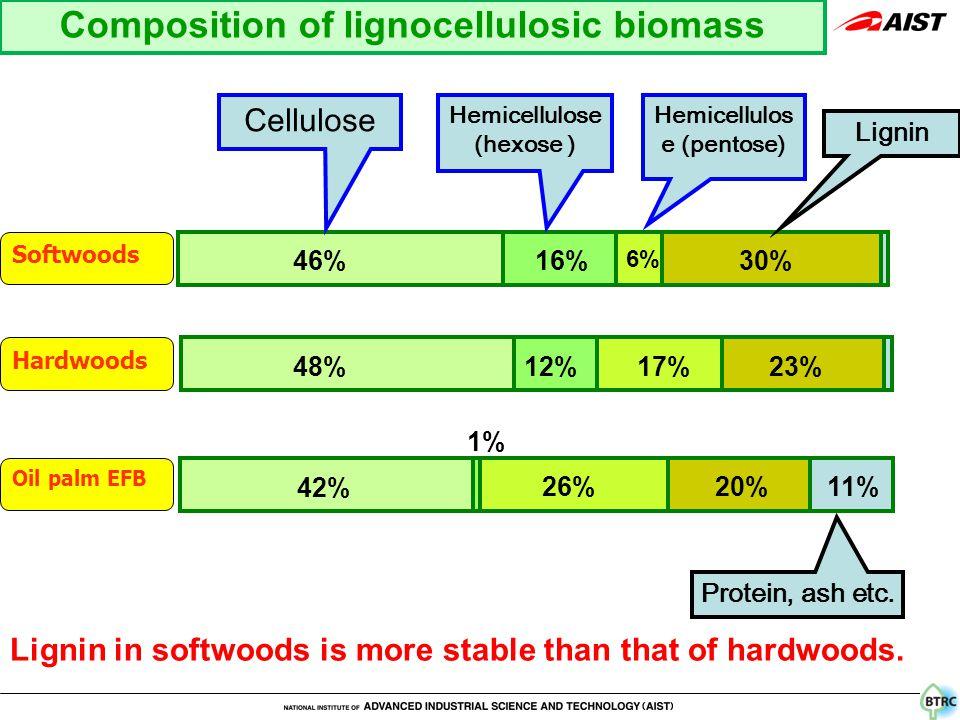 Hemicellulose (hexose ) Hemicellulos e (pentose) Cellulose Lignin Protein, ash etc.