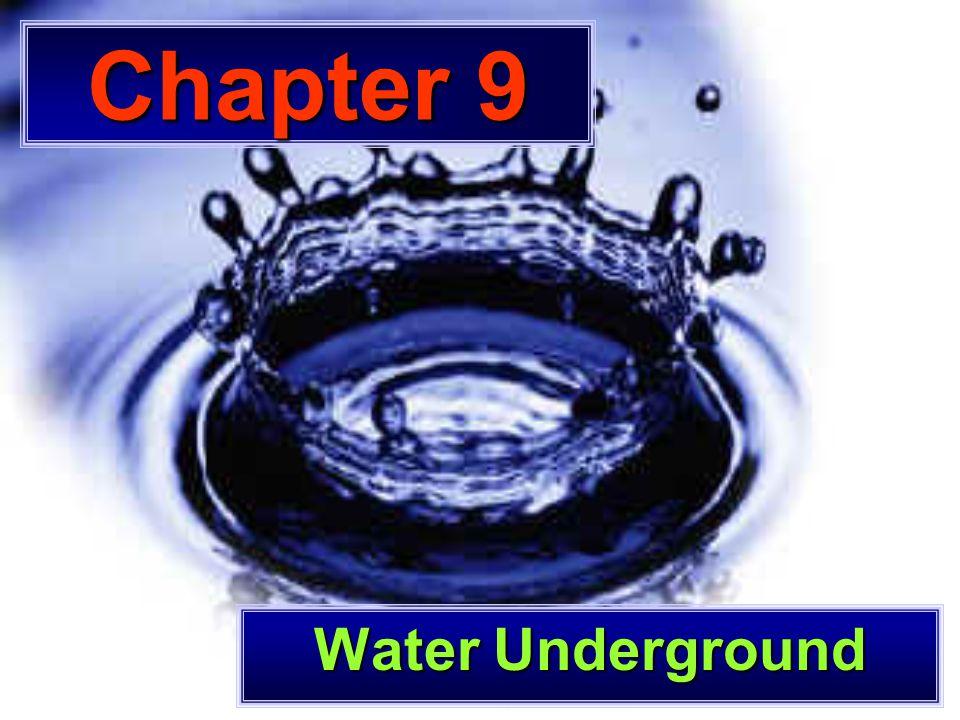 Chapter 9 Water Underground