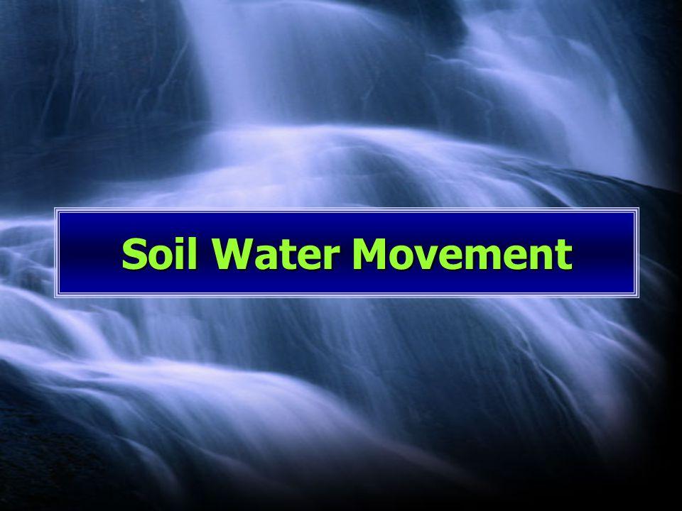 Soil Water Movement