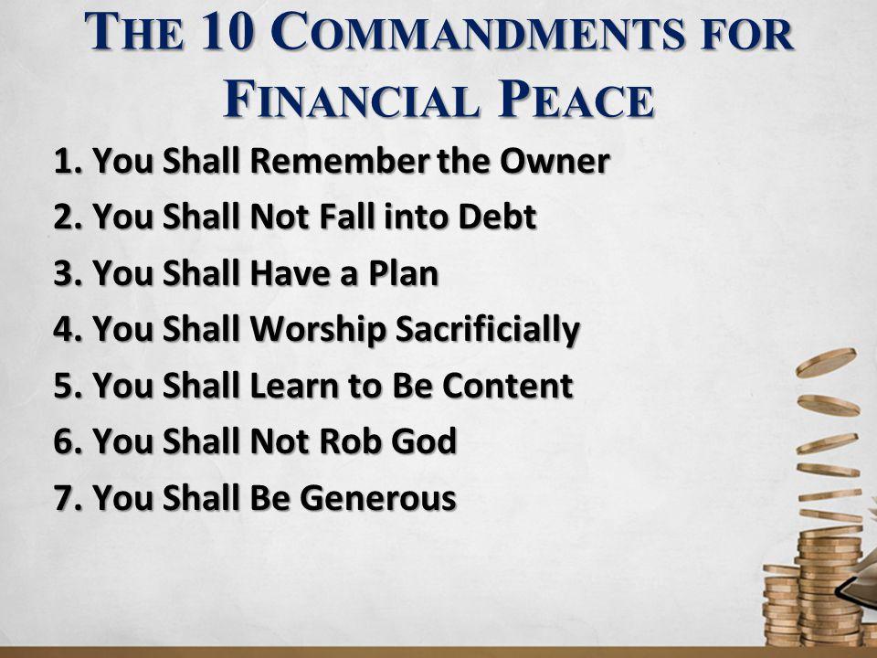 9.Y OU S HALL L OOK F ORWARD TO THE F INAL A UDIT Well done, good and faithful servant.