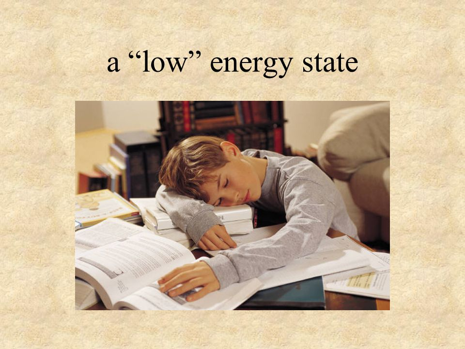 a low energy state