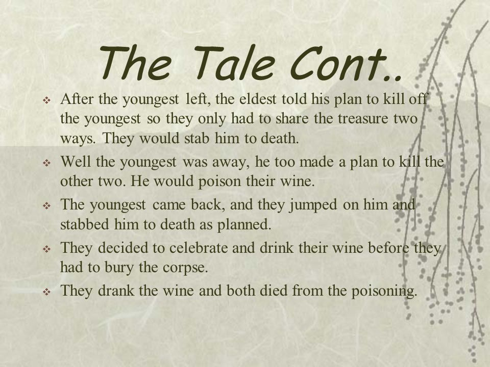 The Tale Cont..