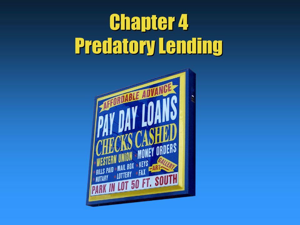 Chapter 4 Predatory Lending