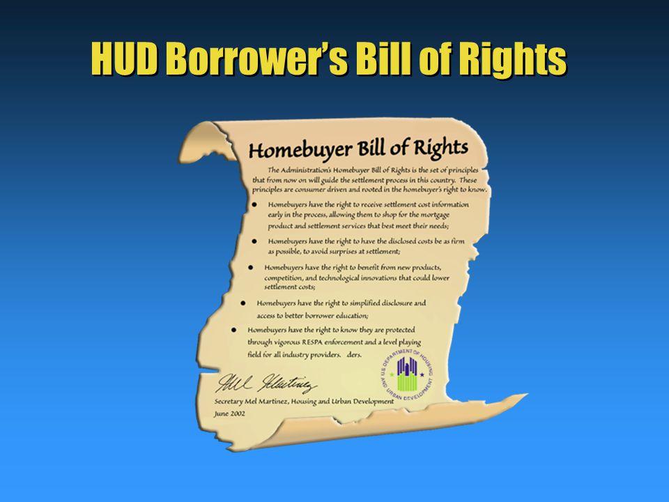 HUD Borrower's Bill of Rights