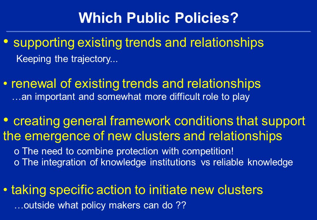 Which Public Policies.