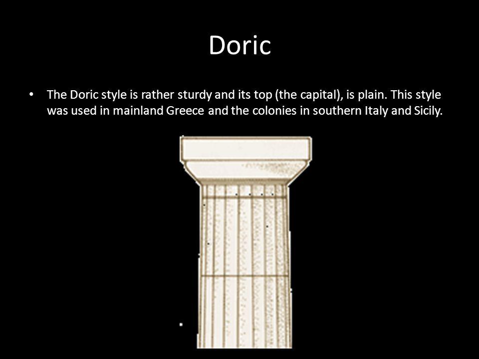 Doric Order Example: The Parthenon