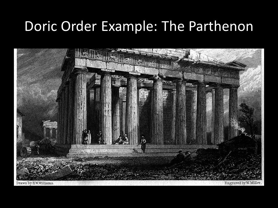 Doric Order Example: The Parthenon