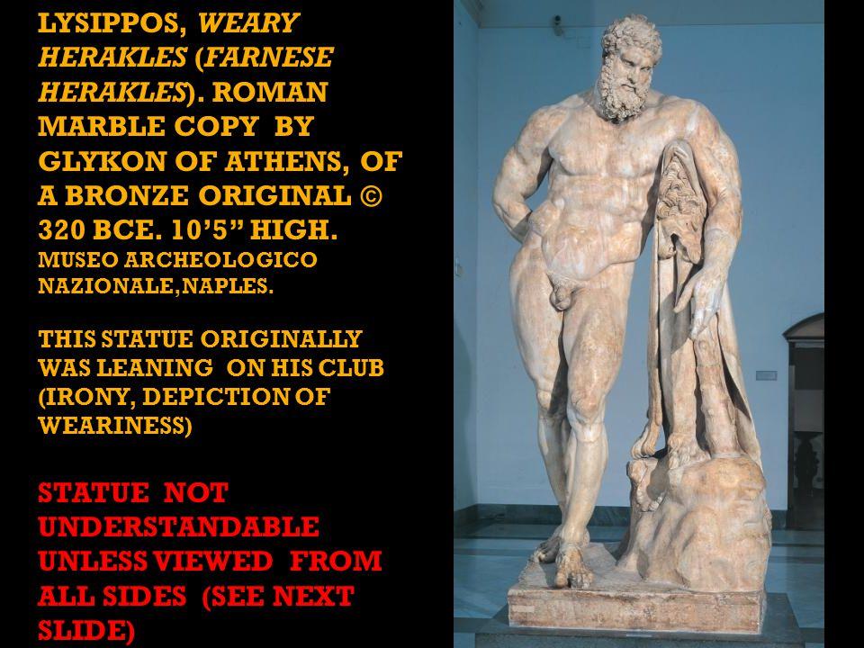 LYSIPPOS, WEARY HERAKLES (FARNESE HERAKLES).