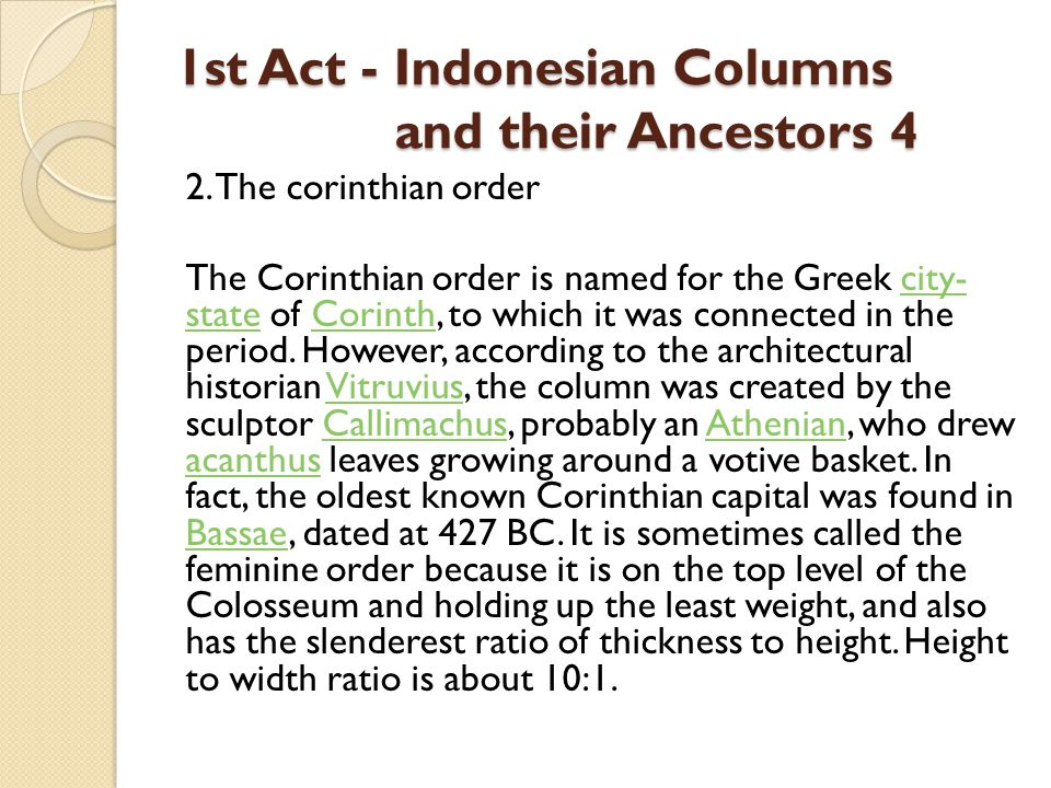 1st Act - Indonesian Columns and their Ancestors 4 2.