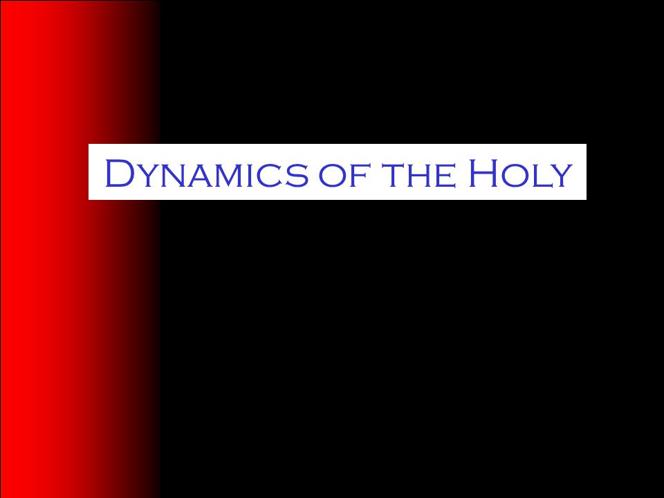 Dynamics of the Holy
