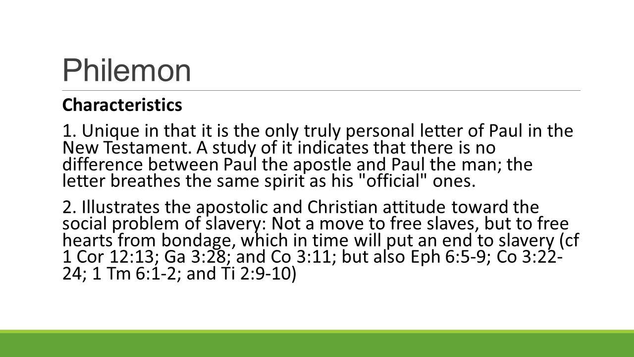Philemon Characteristics 1.