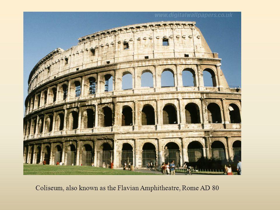 Coliseum, also known as the Flavian Amphitheatre, Rome AD 80