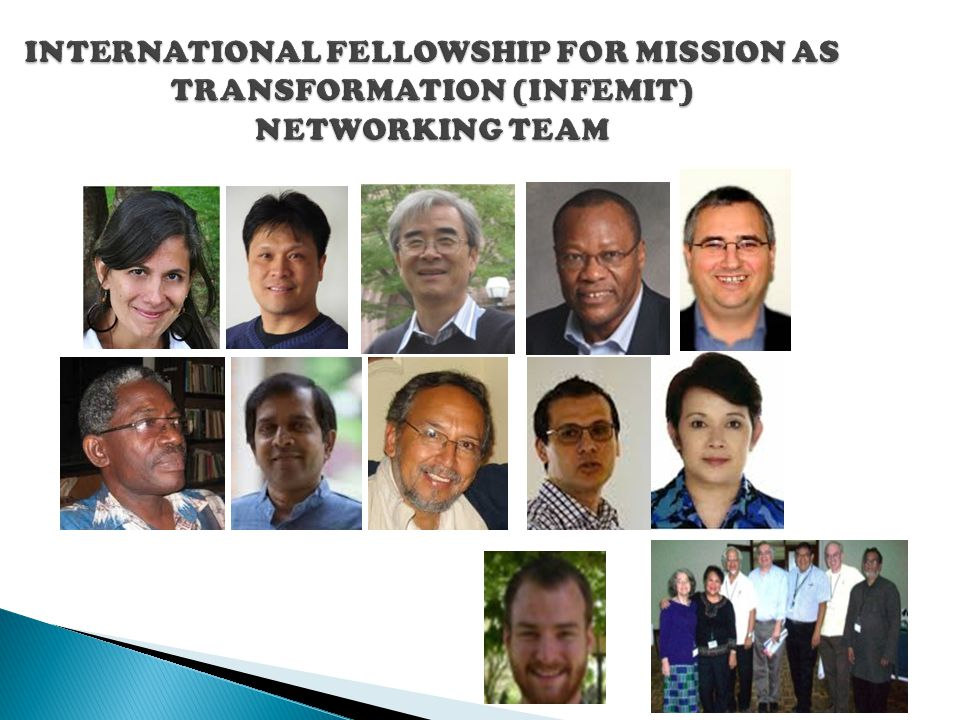 INTERNATIONAL FELLOWSHIP FOR MISSION AS TRANSFORMATION (INFEMIT) NETWORKING TEAM