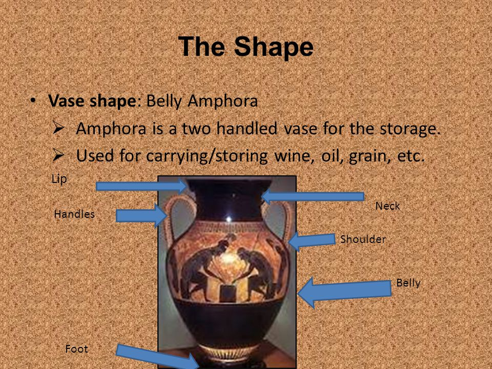 What makes this amphora different to other amphorae.