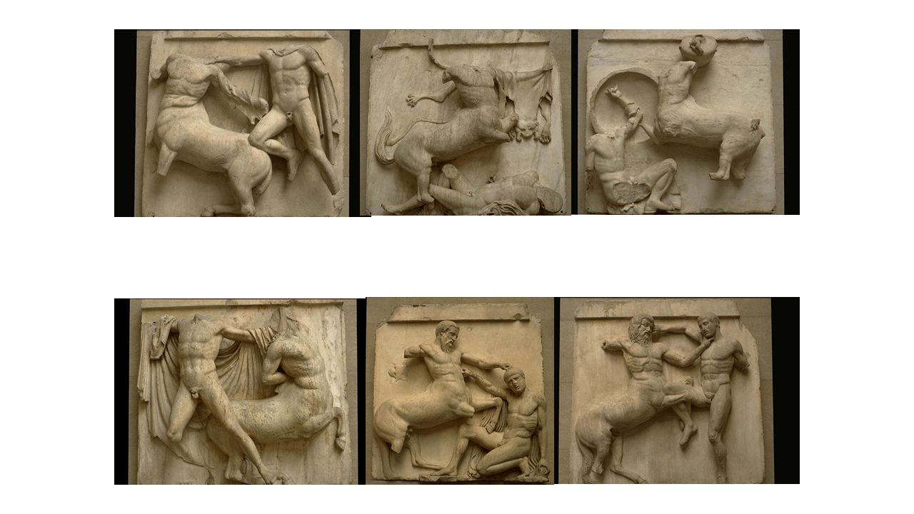 The parthenon the epitome of the doric order - 46 Various Metopes From Parthenon