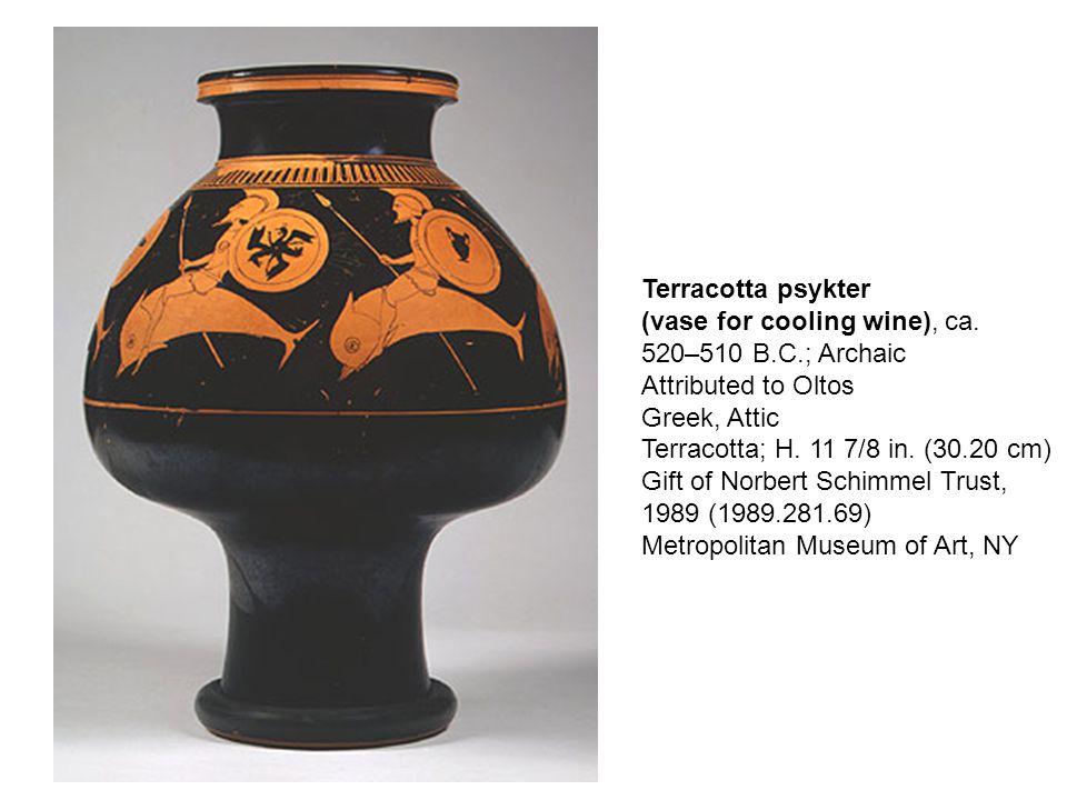 Terracotta psykter (vase for cooling wine), ca.