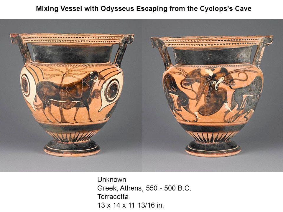 Unknown Greek, Athens, 550 - 500 B.C. Terracotta 13 x 14 x 11 13/16 in.