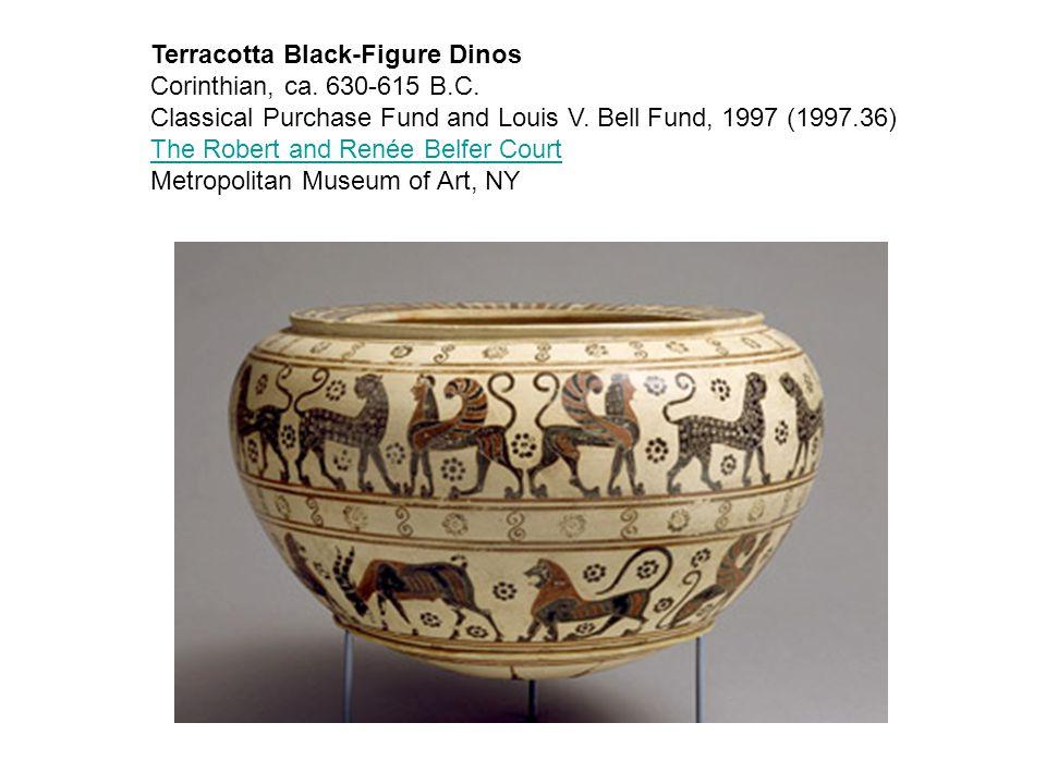 Terracotta Black-Figure Dinos Corinthian, ca. 630-615 B.C.